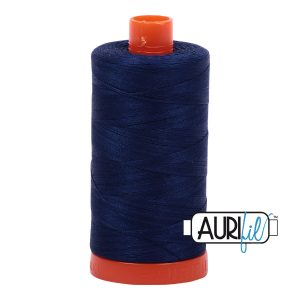 AURIfil Mako 50wt thread // cotton thread // #2784 dark navy // Holm Sown