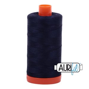 AURIfil Mako 50wt thread // cotton thread // #2785 very dark navy // Holm Sown