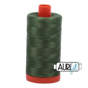 AURIfil Mako 50wt thread // cotton thread // #2890 dark grass green // Holm Sown