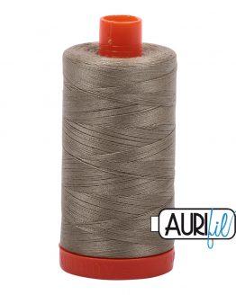 AURIfil Mako 50wt thread // cotton thread // #2900 light khaki green // Holm Sown