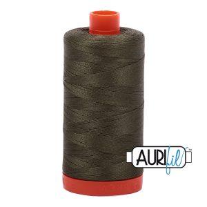 AURIfil Mako 50wt thread // cotton thread // #2905 army green // Holm Sown
