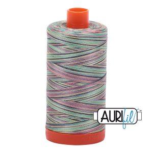 AURIfil Mako 50wt thread // cotton thread // #3817 marrakesh variegated // Holm Sown