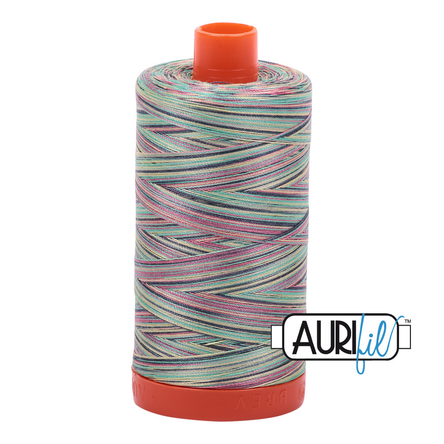 AURIfil Mako 50wt thread // cotton thread // #3817 marrakesh variegated // Holm Sown