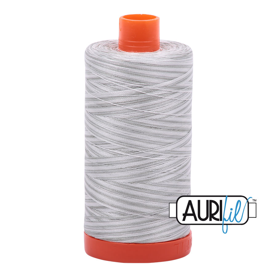 AURIfil Mako 50wt thread // cotton thread // #4060 silver moon variegated // Holm Sown