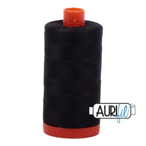 AURIfil Mako 50wt thread // cotton thread // #4241 very dark grey // Holm Sown