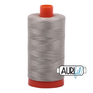 AURIfil Mako 50wt thread // cotton thread // #5021 light grey // Holm Sown