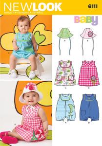 New Look 6111 sewing pattern // baby romper // Holm Sown