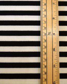Ponte Roma // Black & White Stripe // scale // Holm Sown