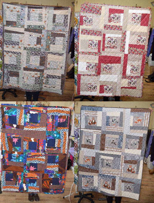 Beginners Patchwork & Quilting Workshop // Wonky Log Cabin Quilt // Holm Sown