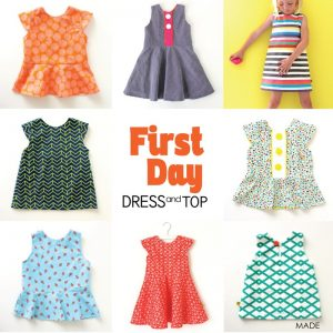 First Day Dress and Top // pattern my Made Every Day // Holm Sown