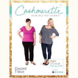 Cashmerette Patterns Concord t-shirt // 2201 pattern envelope front // Holm Sown