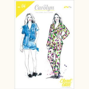 Closet Case Carolyn Pajamas // pattern envelope front // Holm Sown