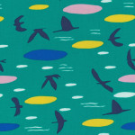 Cloud9 Fabrics // Lore by Leah Duncan // Up above the clouds so high - green // Holm Sown