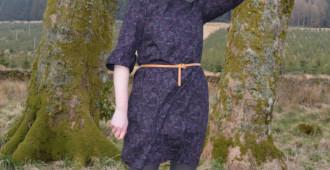 Colette Laurel Dress // Midnight Garden cotton poplin // Holm Sown