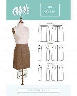 Colette Patterns 1035 // Selene Skirt // Pattern Envelope Front // Holm Sown