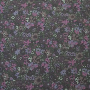 Midnight Garden // luxury designer cotton poplin // purple floral // Holm Sown