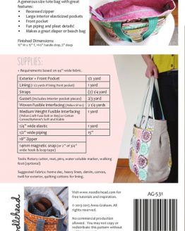Noodle-head // Super Tote Bag // pattern envelope back // Holm Sown