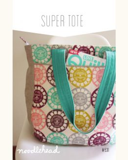 Noodle-head // Super Tote Bag // pattern envelope // Holm Sown