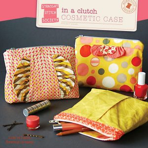 Straight Stitch Society Patterns // In a clutch cosmetic case // pattern envelope // Holm Sown