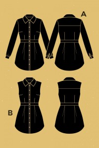 Bruyere Shirt Pattern from Deer & Doe // Holm Sown