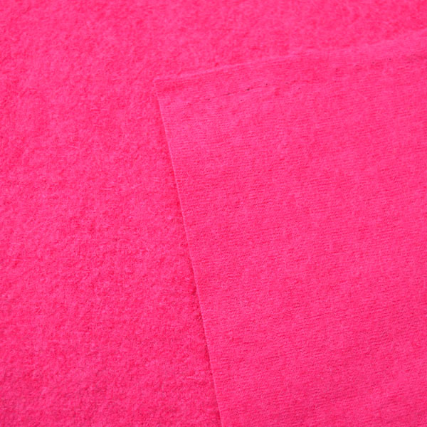 Boiled Wool Jersey // Fuchsia / Hot Pink // reverse // Holm Sown