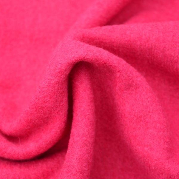 Boiled Wool Jersey // Fuchsia / Hot Pink // detail // Holm Sown