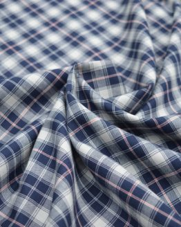 Castle Cotton Check - Navy // Holm Sown