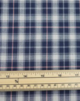 Castle Cotton Check - Navy // scale // Holm Sown