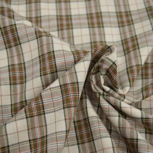 Castle Cotton Check - Olive // Holm Sown