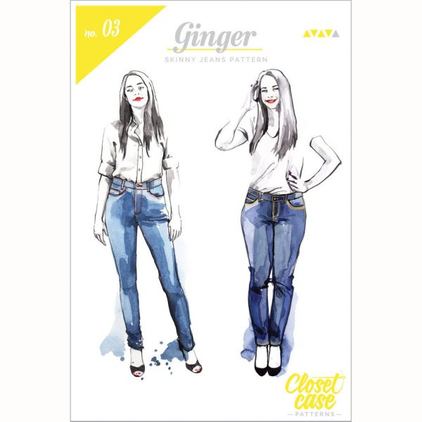 Closet Case Ginger Jeans // pattern envelope front // Holm Sown