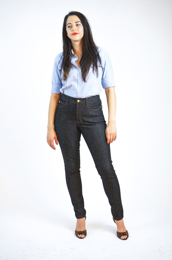 Closet Case Ginger Jeans // view B skinny // Holm Sown