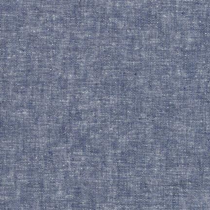 Robert Kaufman Essex Yard Dye Linen // Denim Blue // Holm Sown