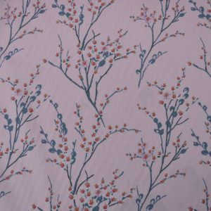 Chinese Blossom cotton poplin fabric - pink // Holm Sown