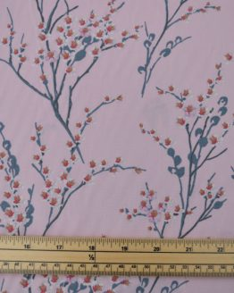 Chinese Blossom cotton poplin fabric - pink // scale // Holm Sown