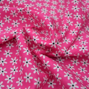 Daisy cotton poplin fabric - pink // Holm Sown