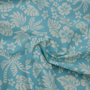 Hawaii cotton poplin fabric - pale sky blue // Holm Sown