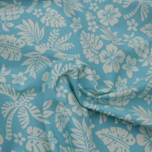 Hawaii cotton poplin fabric - pale sky blue // Holm Sown