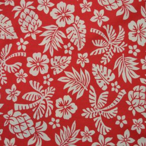 Hawaii cotton poplin fabric - red // Holm Sown