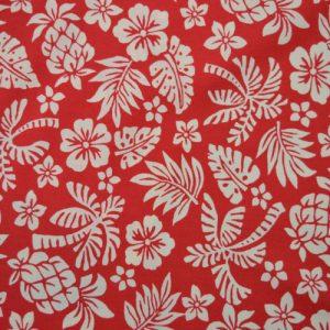 Hawaii cotton poplin fabric - red // Holm Sown