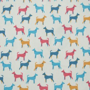 Hound Dog cotton poplin fabric // Holm Sown