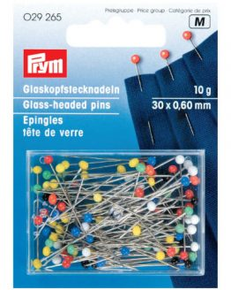 Prym glass headed pins 10g // P029265 // Holm Sown
