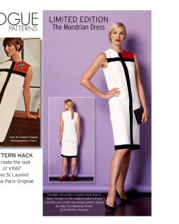 Vogue Patterns V1557 - The Mondrian Dress Pattern Hack // pattern envelope // Holm Sown