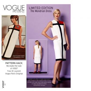 Vogue Patterns V1557 - The Mondrian Dress Pattern Hack // pattern envelope // Holm Sown