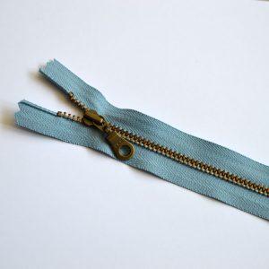 YKK Donut Pull Metal Tooth Zip // 14 inch / 35.5cm // blue heron // Holm Sown