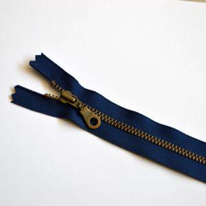 YKK Donut Pull Metal Tooth Zip // 14 inch / 35.5cm // navy blue // Holm Sown