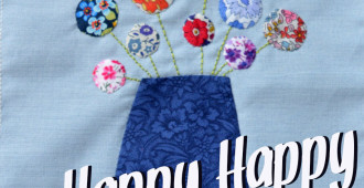 DGMQG June Bee Block // Happy Happy // Holm Sown