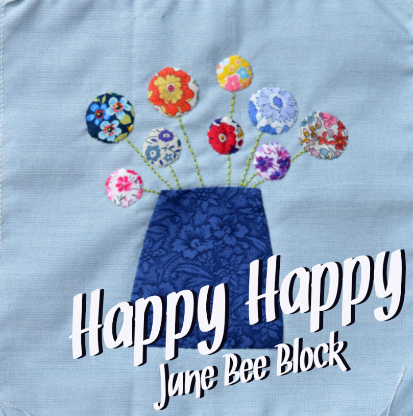 DGMQG June Bee Block // Happy Happy // Holm Sown