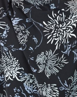 Cara Black Twill Polyester Crepe dressmaking fabric // Holm Sown