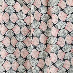 Fans black pima cotton lawn dressmaking fabric // Holm Sown