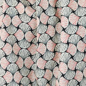 Fans black pima cotton lawn dressmaking fabric // Holm Sown